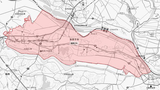 千葉県我孫子市地図