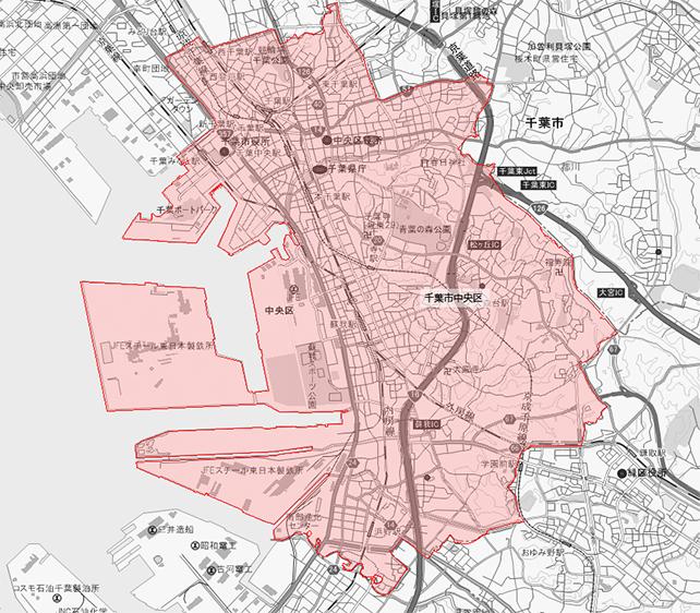 千葉県千葉市中央区地図