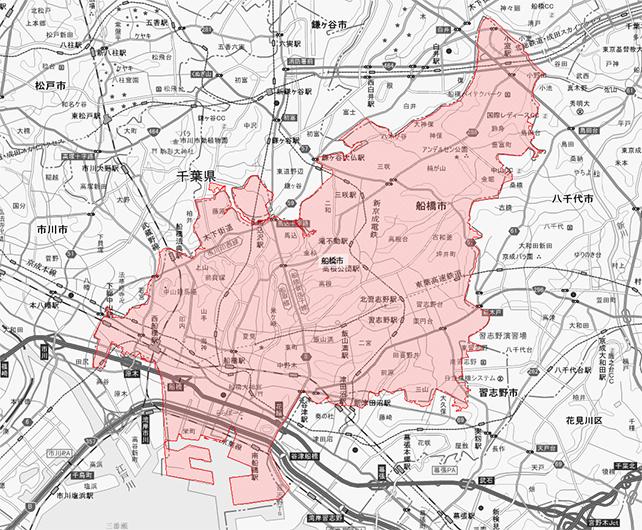 千葉市船橋市地図