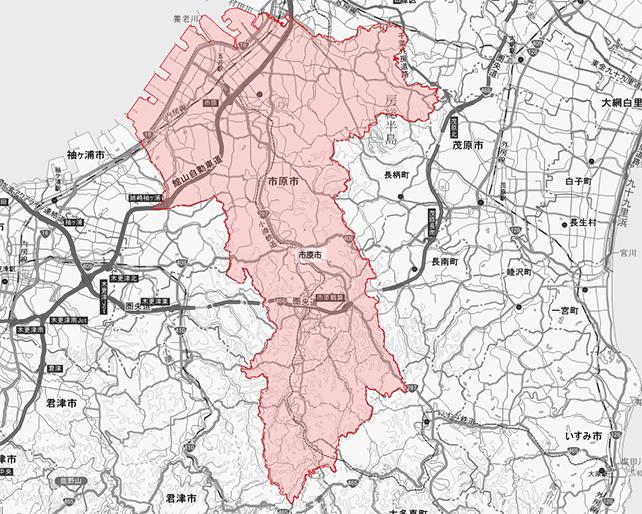 千葉市市原市地図