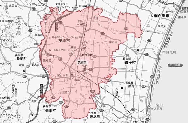 千葉県茂原市地図
