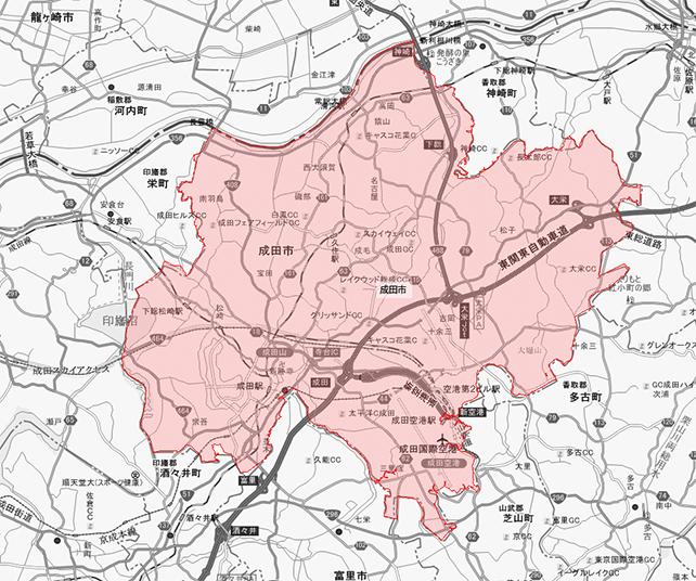 千葉県成田市地図