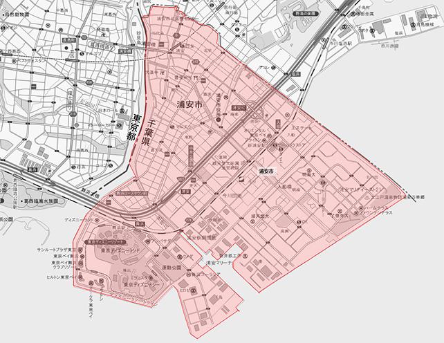 千葉県浦安市地図