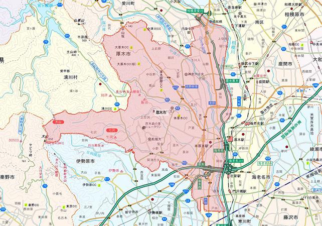 東京都厚木市地図