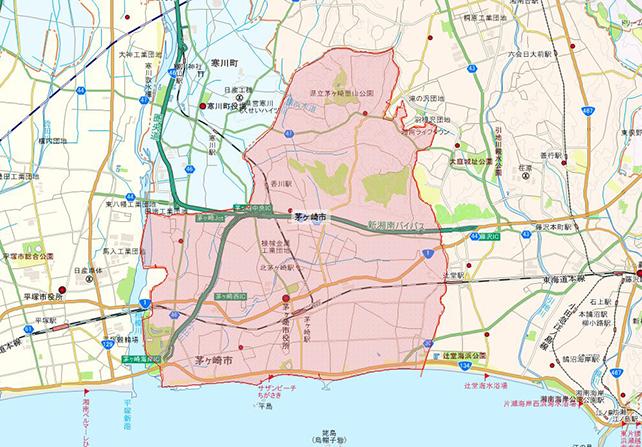東京都茅ヶ崎市地図