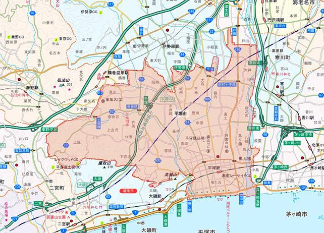 東京都平塚市地図