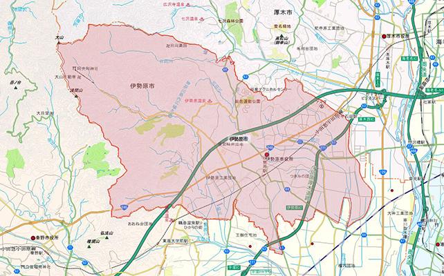 神奈川県伊勢原市地図