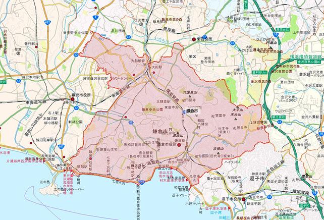 東京都鎌倉市地図