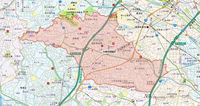 東京都川崎市宮前区地図