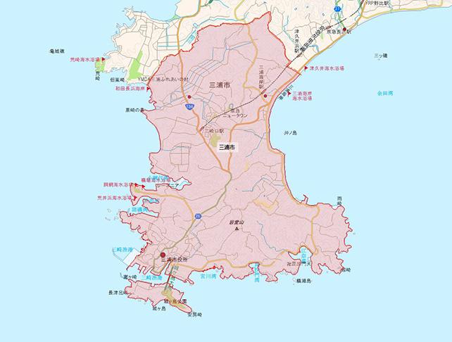 東京都三浦市地図