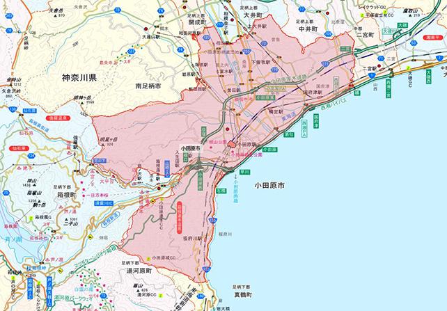 東京都小田原市地図