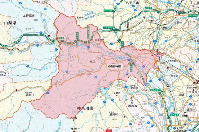 東京都相模原市緑区地図