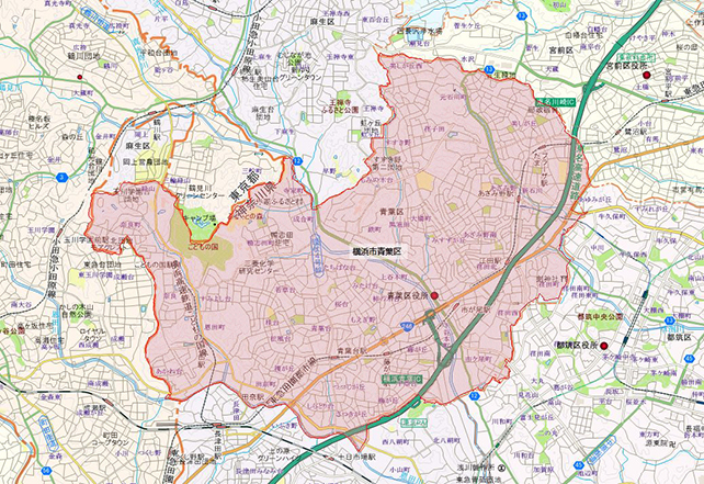横浜市青葉区地図