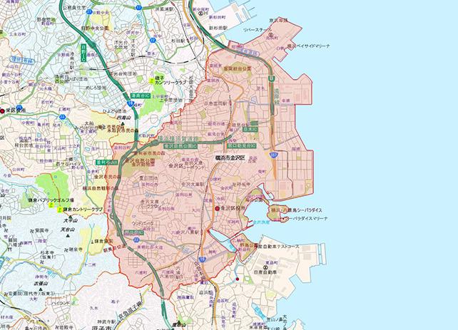 東京都横浜市金沢区地図