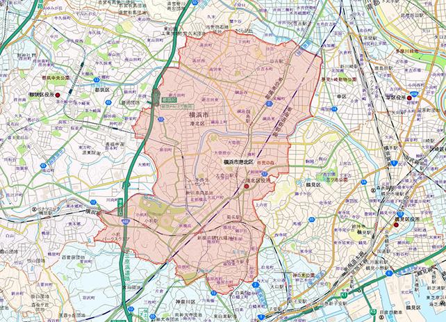 東京都横浜市港北区地図