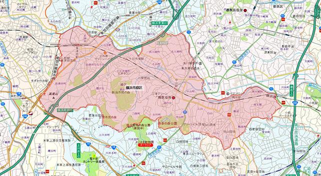 東京都横浜市緑区地図