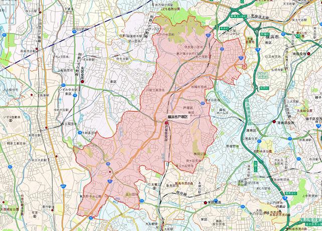 東京都横浜市戸塚区地図
