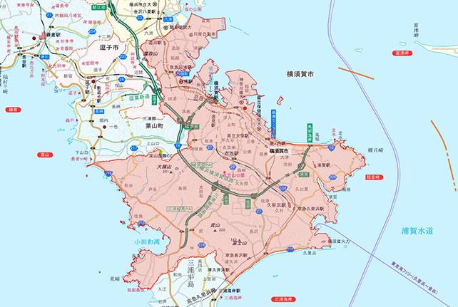 東京都横須賀市地図