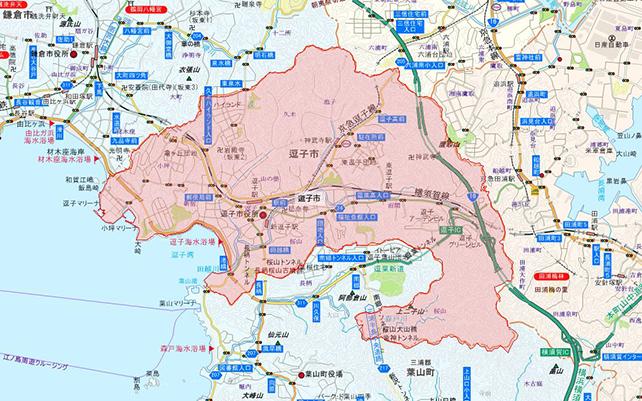 神奈川県逗子市地図