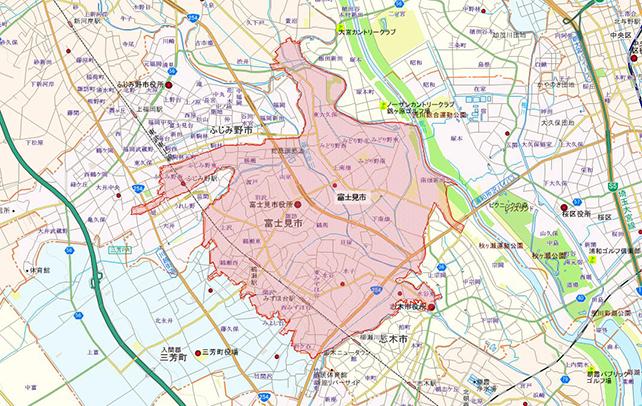 埼玉県富士見市地図