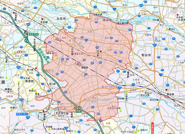 埼玉県深谷市地図