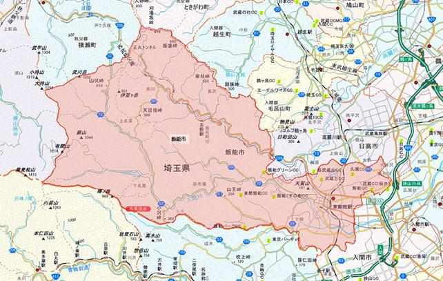 埼玉県飯能市地図