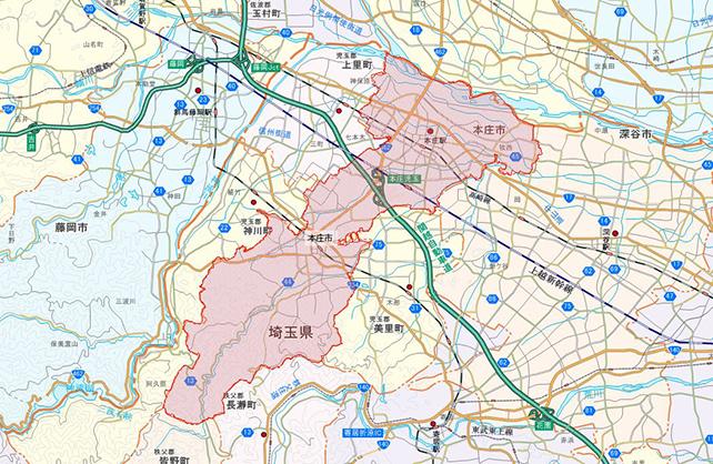 埼玉県本庄市地図
