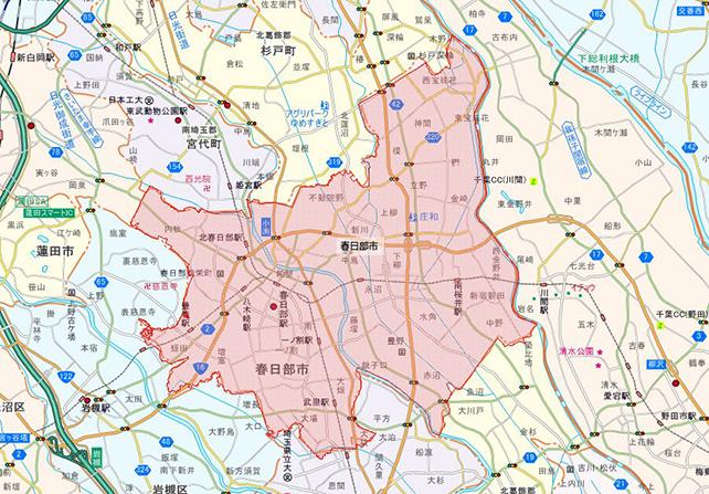 埼玉県春日部市地図