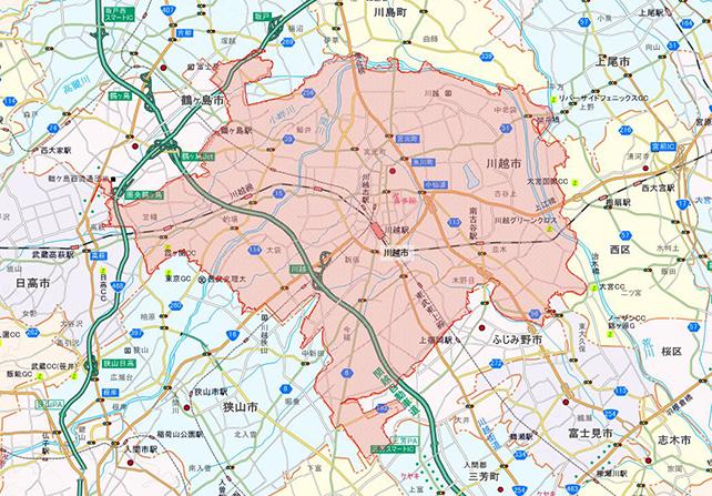 埼玉県川越市地図
