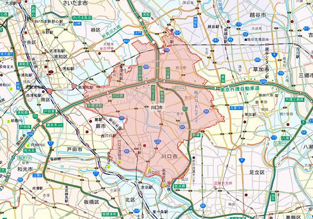 埼玉県川口市地図