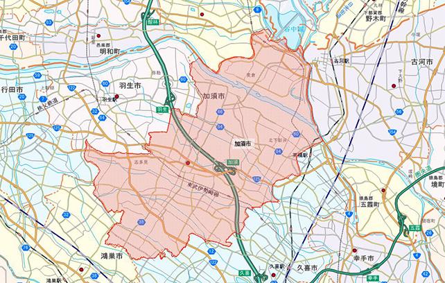 埼玉県加須市地図