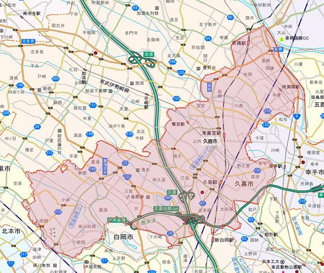 埼玉県久喜市地図