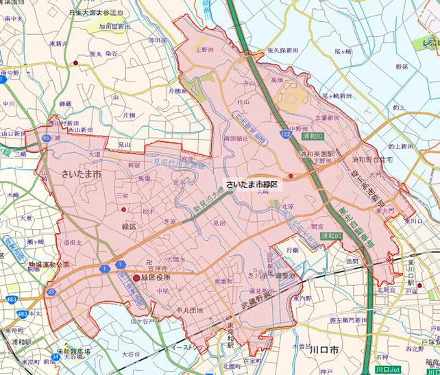 埼玉県さいたま市緑区地図