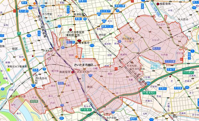 埼玉県さいたま市南区地図