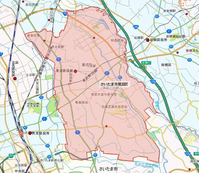 埼玉県さいたま市見沼区地図