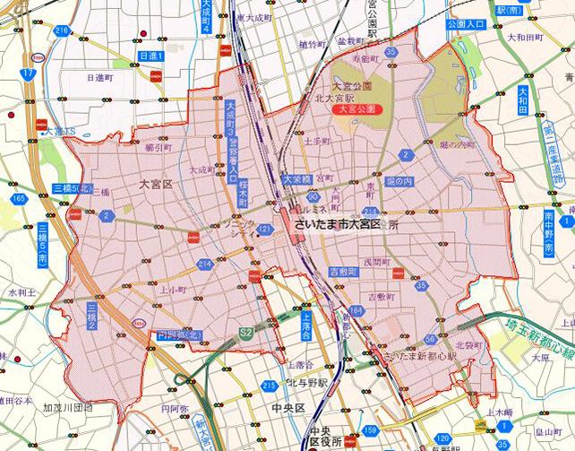 埼玉県さいたま市大宮区地図