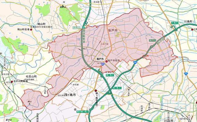 埼玉県坂戸市地図