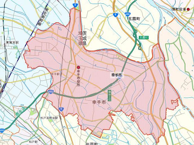 埼玉県幸手市地図