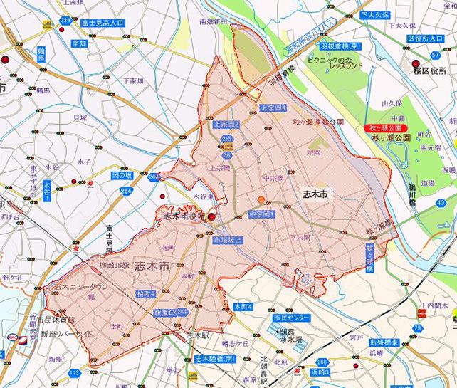 埼玉県志木市地図