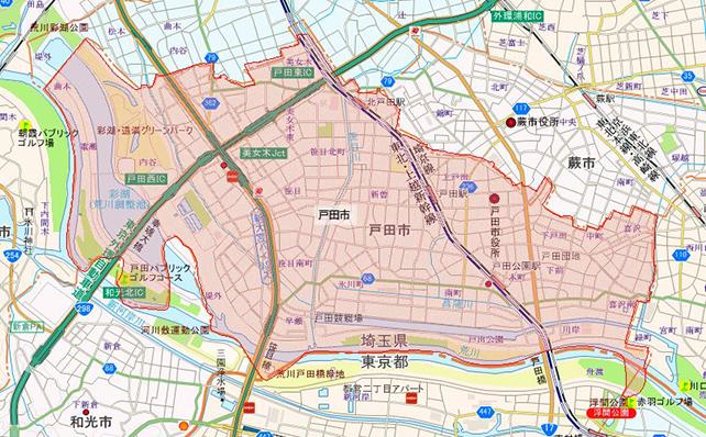 埼玉県戸田市地図