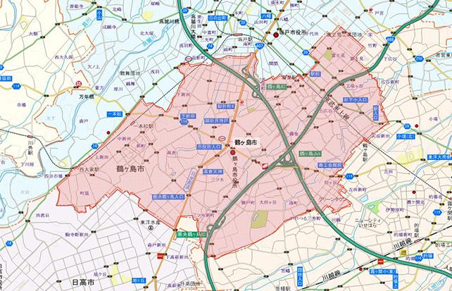 埼玉県鶴ヶ島市地図