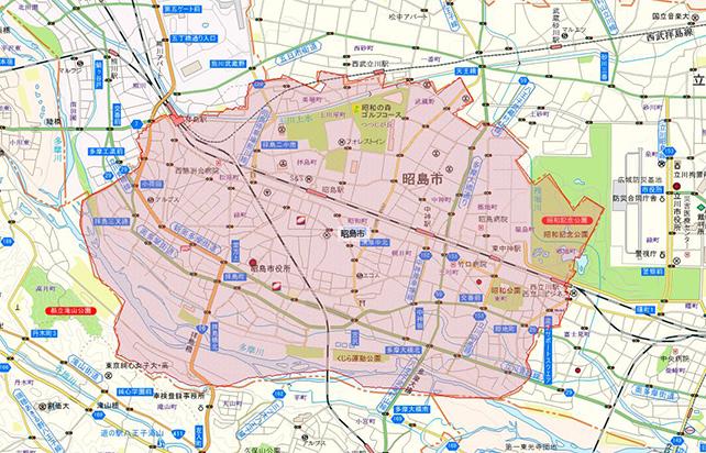 東京都昭島市地図