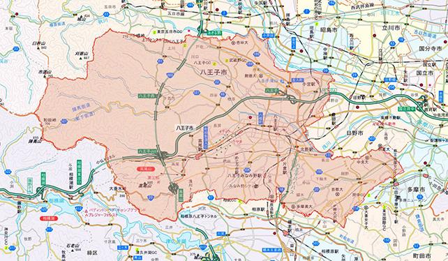 東京都八王子市地図