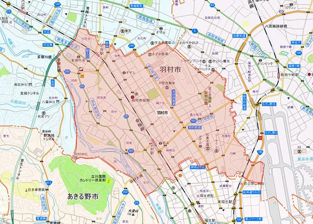 東京都羽村市地図