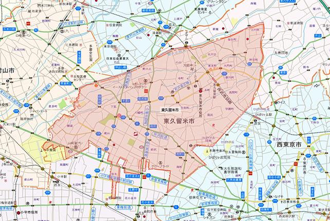 東京都東久留米市地図