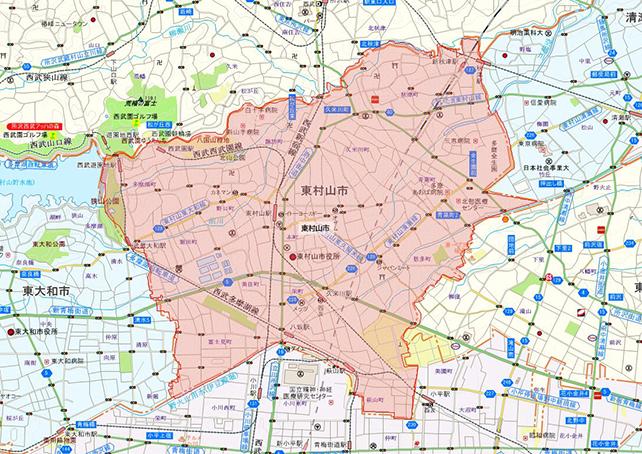 東京都東村山市地図