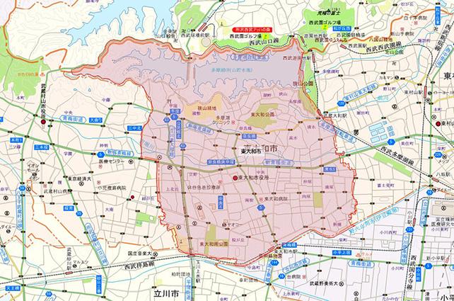 東京都東大和市地図