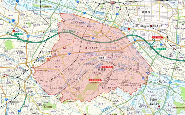 東京都日野市地図