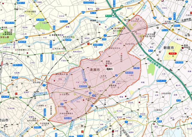 東京都清瀬市地図