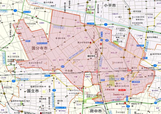 東京都国分寺市地図